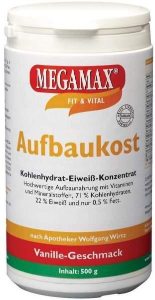 Megamax Aufbaukost Vanille 500 G Pulver