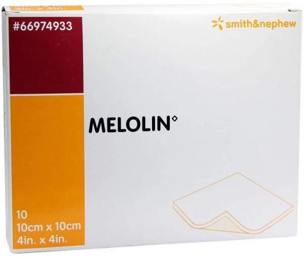 Melolin 10 X 10 cm Wundauflagen Steril 10 Verbände
