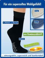 Viskose-Socken aus Bambuszellstoff Größe 39-42 blau 3er Set