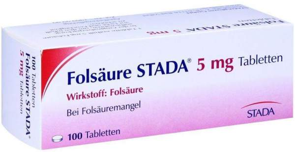 Folsäure Stada 5 mg 100 Tabletten