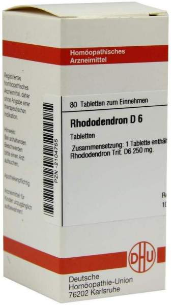 Rhododendron D 6 Tabletten