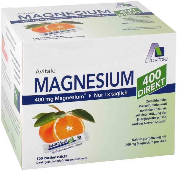 Magnesium 400 direkt Orange 100 Portionssticks