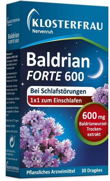 Nervenruh Baldrian forte 600 30 überzogene Tabletten