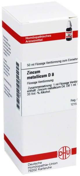 Dhu Zincum Metallicum D8 Dilution