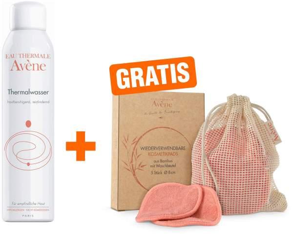 Avene Thermalwasser Spray 300 ml + gratis Kosmetikpads (wiederverwendbar) 5 Stück