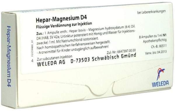 Weleda Hepar-Magnesium D4 8 Ampullen