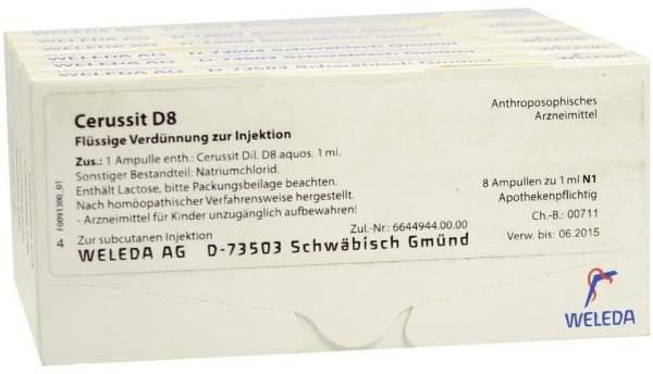 Weleda Cerussit D8 48 X 1 ml Ampullen