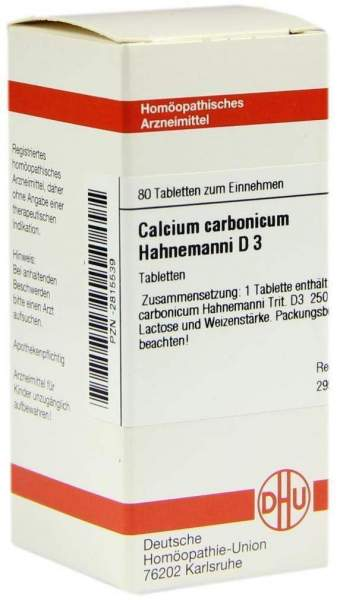 Calcium Carbonicum Hahnemanni D 3 80 Tabletten