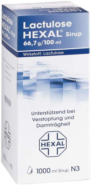 Lactulose Hexal 66,7 g pro 100 ml 1000 ml Sirup