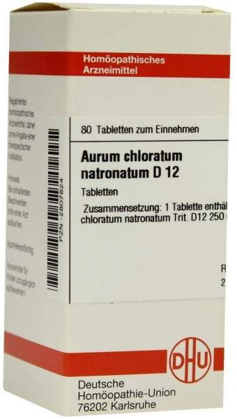 Aurum Chloratum Natronatum D12 Tabletten 80 Tabletten