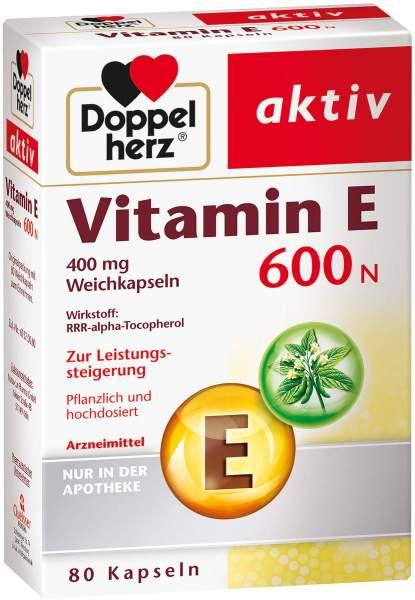 Doppelherz Vitamin E 600 N 80 Weichkapseln