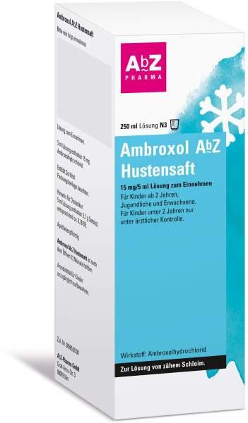 Ambroxol Abz Hustensaft 15mg Pro 5 ml 250 ml Lösung zum Einnehmen