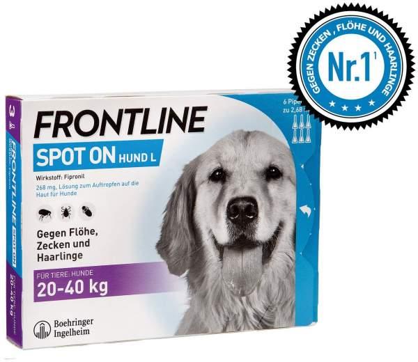 Frontline Spot On Hund L 20-40kg 6 Lösungen