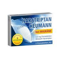 Naratriptan Heumann bei Migräne 2,5mg Filmtabletten