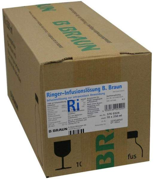 Ringer Lösung B.Braun Glas Infusionslösung 10 X 250 Ml...