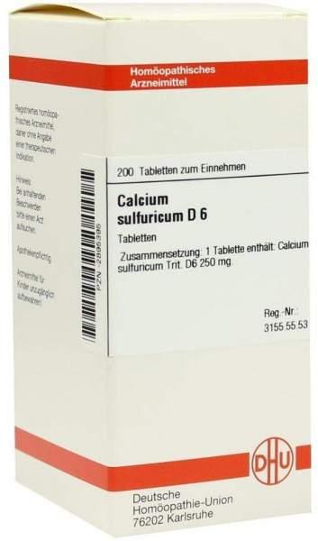 Calcium Sulfuricum D 6 200 Tabletten