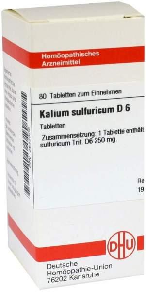 Kalium Sulfuricum D6 Dhu 80 Tabletten