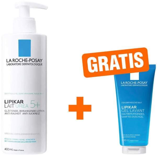 La Roche Posay Lipikar Lait Urea 5+ Lotion 400 ml + gratis Lipikar Gel Lavant 100 ml