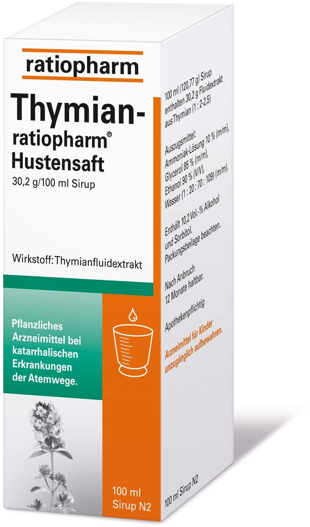 thymian ratiopharm hustensaft 100 ml sirup von ratiopharm gmbh online volksversand versandapotheke. Black Bedroom Furniture Sets. Home Design Ideas