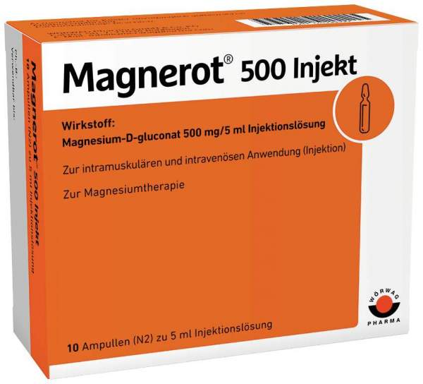 Magnerot 1000 Injekt 10 x 10 ml Ampullen