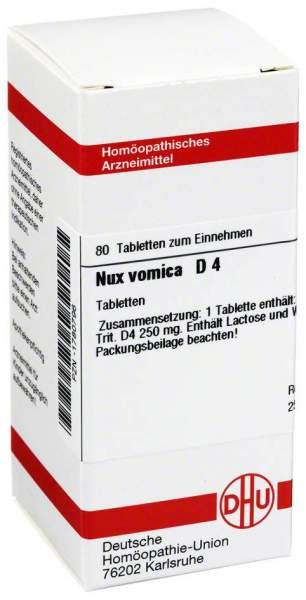 Nux Vomica D 4 80 Tabletten