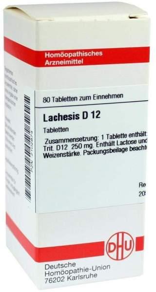 Lachesis D 12 80 Tabletten