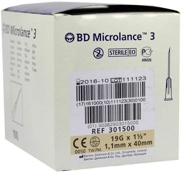 Bd Microlance Kanüle 19g X 1 1-2 1,1x40 mm
