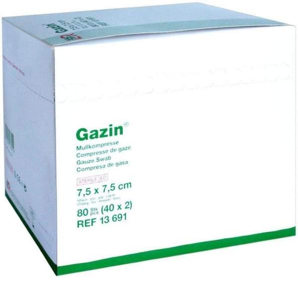 Gazin Mullkompresse 12fach 7,5x7,5cm Steril 40x2 Kompressen