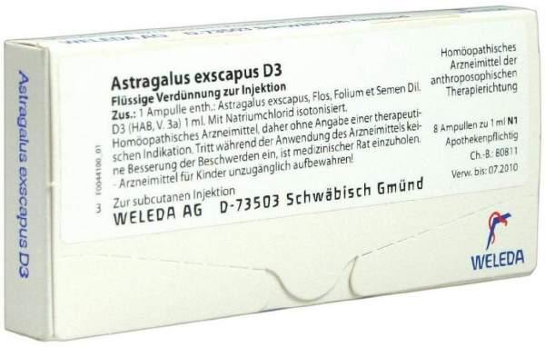 Astragalus Exscapus D 3 Ampullen 8 X 1 ml