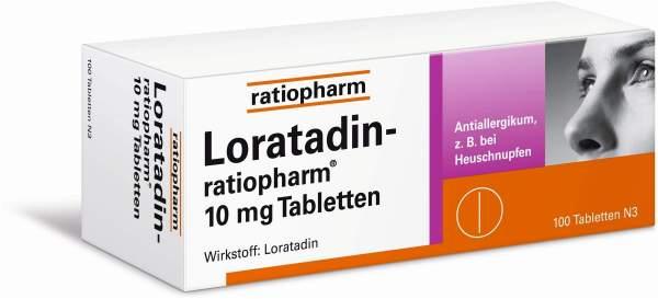 Loratadin Ratiopharm 10mg 100 Tabletten