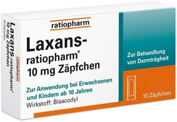 Laxans-ratiopharm 10mg Zäpfchen