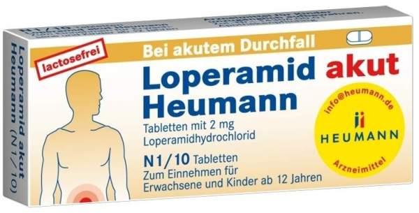 Loperamid akut Heumann 10 Tabletten