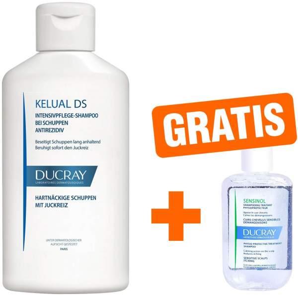 Ducray Kelual DS Shampoo 100 ml + gratis Sensinol Shampoo irritierte Kopfhaut 30 ml