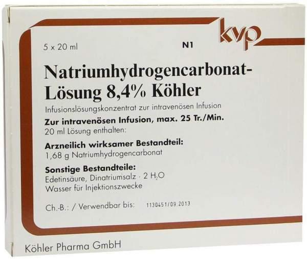 Natrium Hydrogencarbonat 8,4% Köhler 5 X 20 ml Infusionslösung