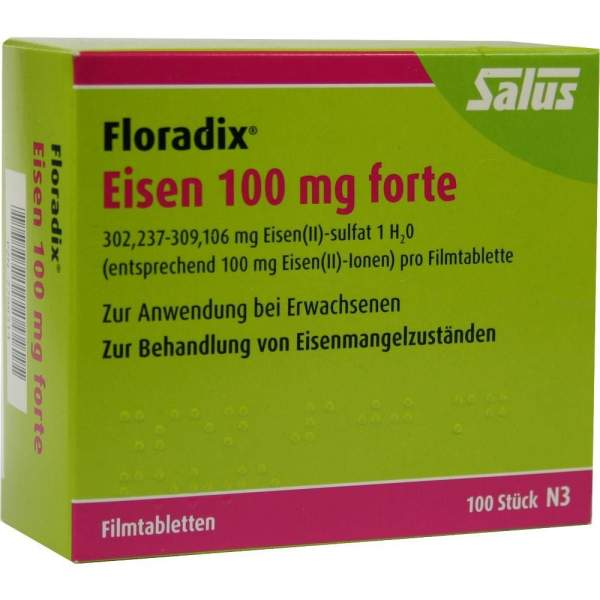 floradix eisen 100 mg forte 100 filmtabletten von salus pharma gmbh on volksversand. Black Bedroom Furniture Sets. Home Design Ideas