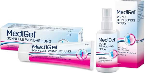 MediGel Schnelle Wundheilung 50 g + Wundreinigungsspray 50 ml