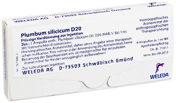 Weleda Plumbum Silicicum D 20 8 X 1 ml Ampullen