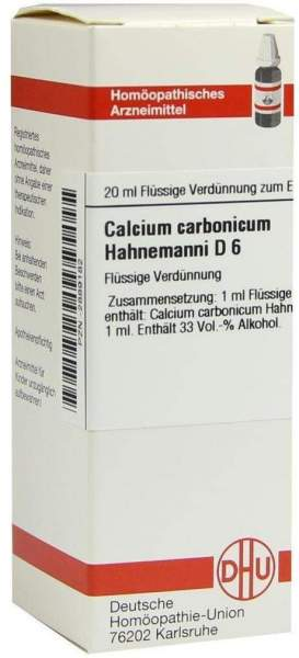 Calcium Carbonicum D6 Dilution Hahnemanni 20 ml Dilution
