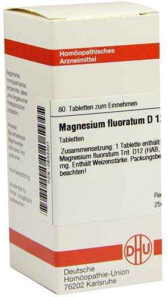 Dhu Magnesium Fluoratum D12 Tabletten 80 Tabletten