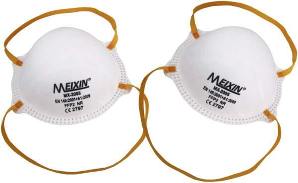 Meixin Atemschutzmaske FFP2 2 Stück