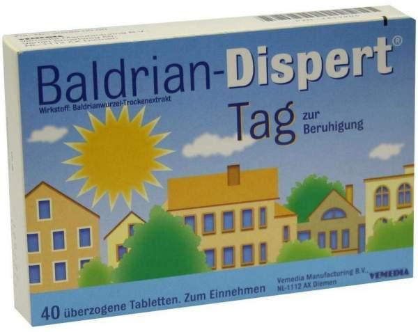 Baldrian Dispert Tag 40 Überzogene Tabletten