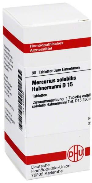 Dhu Mercurius Solubilis Hahnemanni D15 Tabletten
