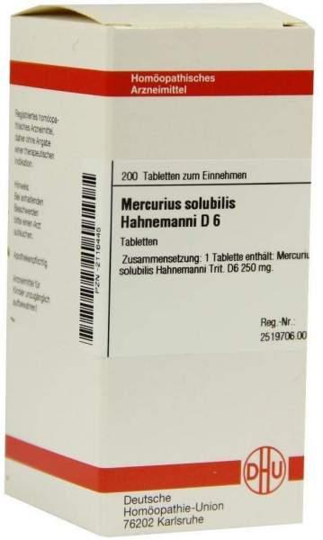 Mercurius Solubilis Hahnemanni D6 200 Tabletten