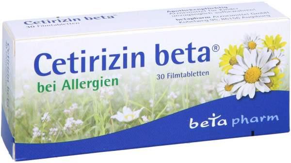 Cetirizin Beta 30 Filmtabletten