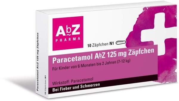Paracetamol Abz 125 mg 10 Zäpfchen