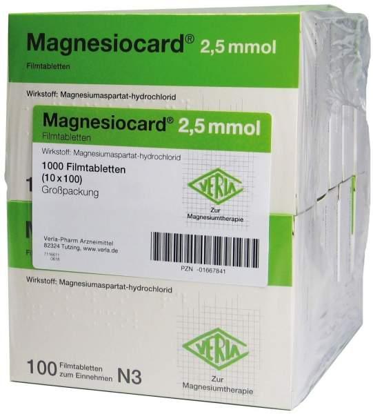 Magnesiocard 2,5 Mmol 10 X 100 Filmtabletten