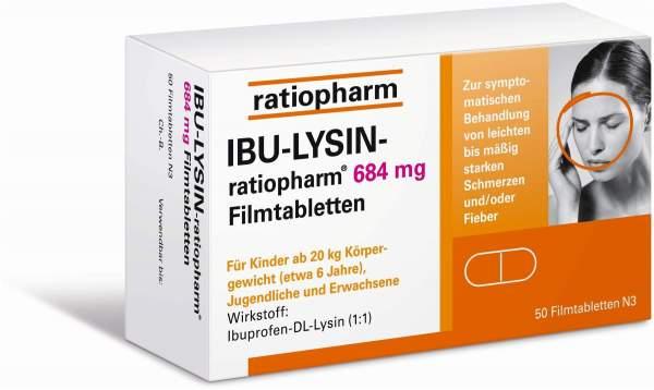 Ibu Lysin ratiopharm 684 mg 50 Filmtabletten
