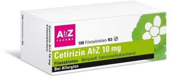 Cetirizin Abz 10 mg 100 Filmtabletten