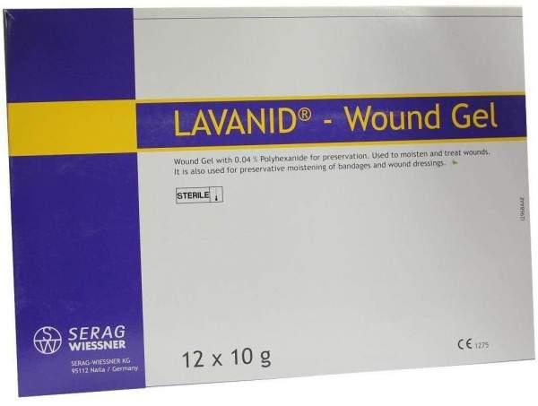 Lavanid Wundgel 12 X 10 G Gel