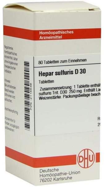 Hepar Sulfuris D30 Dhu 80 Tabletten